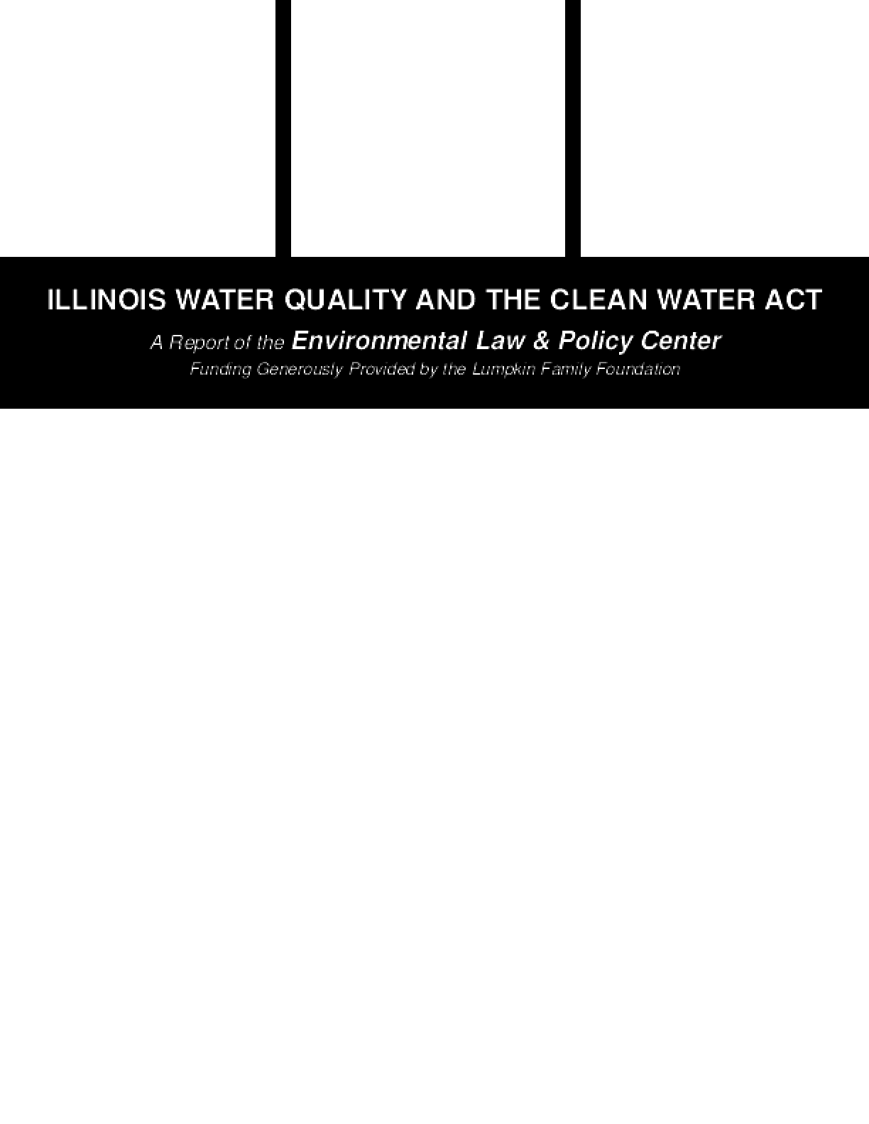 Illinois Water Quality and the Clean Water Act
