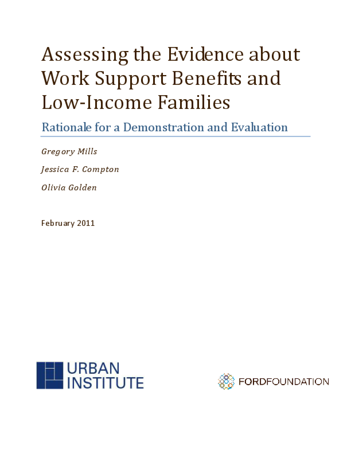 Assessing the Evidence About Work Support Benefits and Low-Income Families