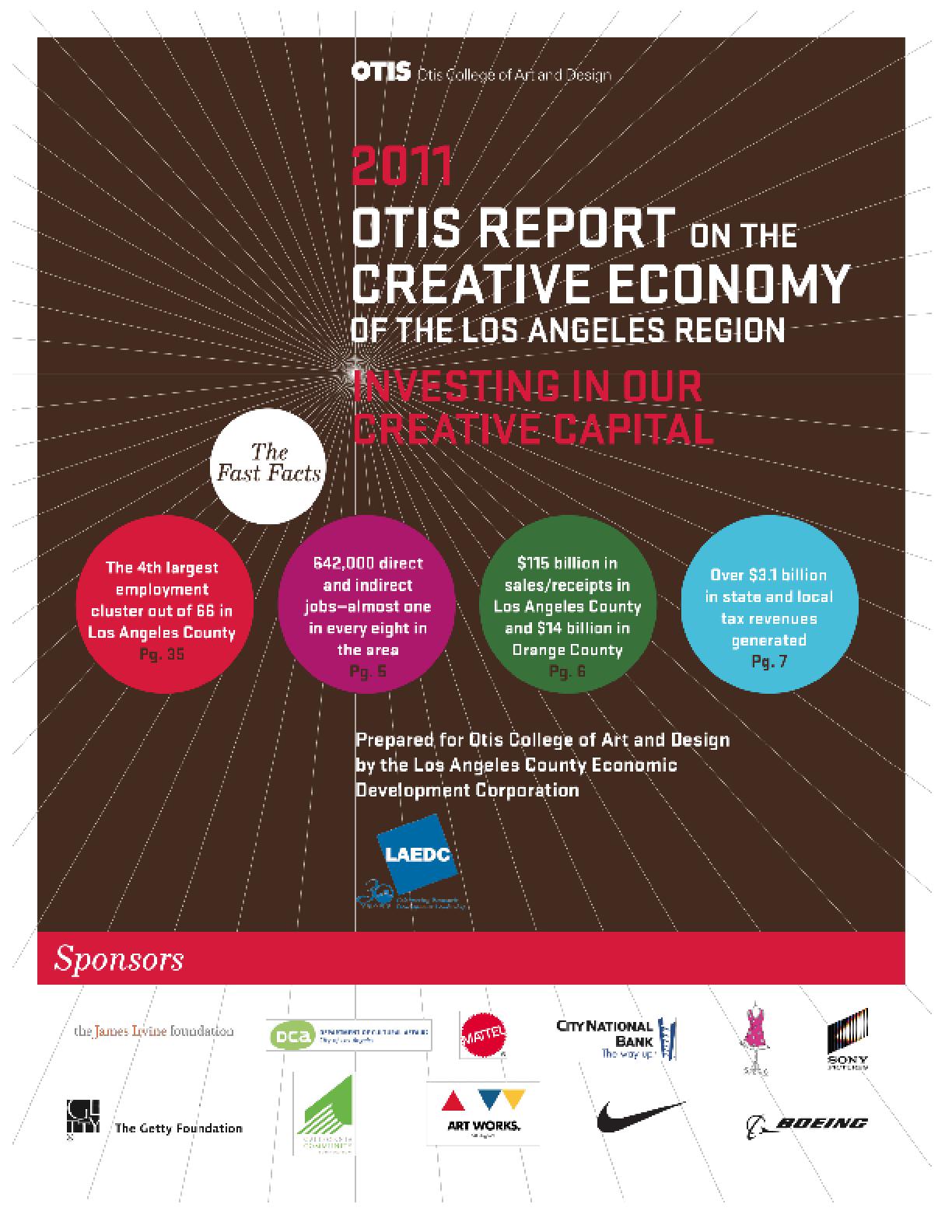2011 Otis Report on the Creative Economy Report of the Los Angeles Region