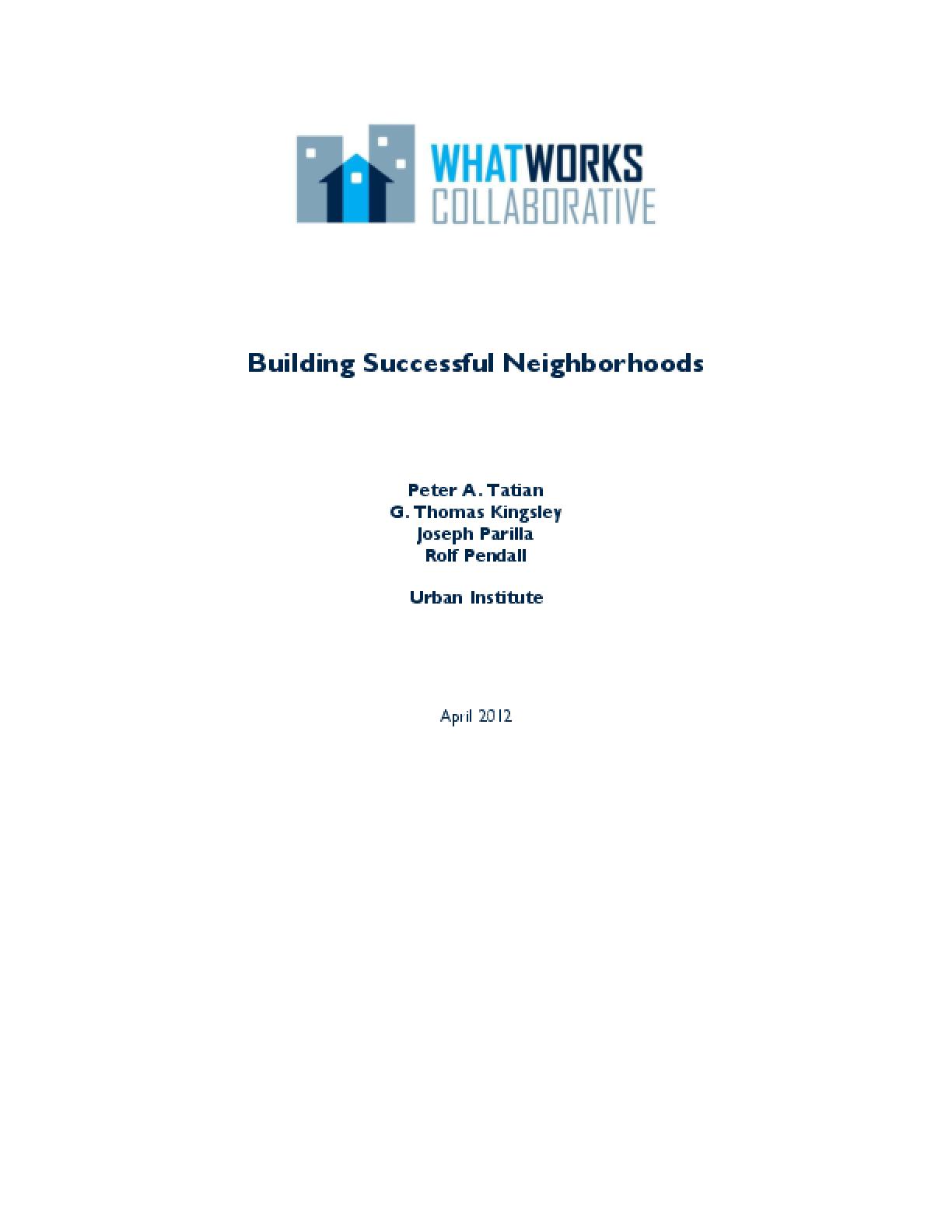 Building Successful Neighborhoods