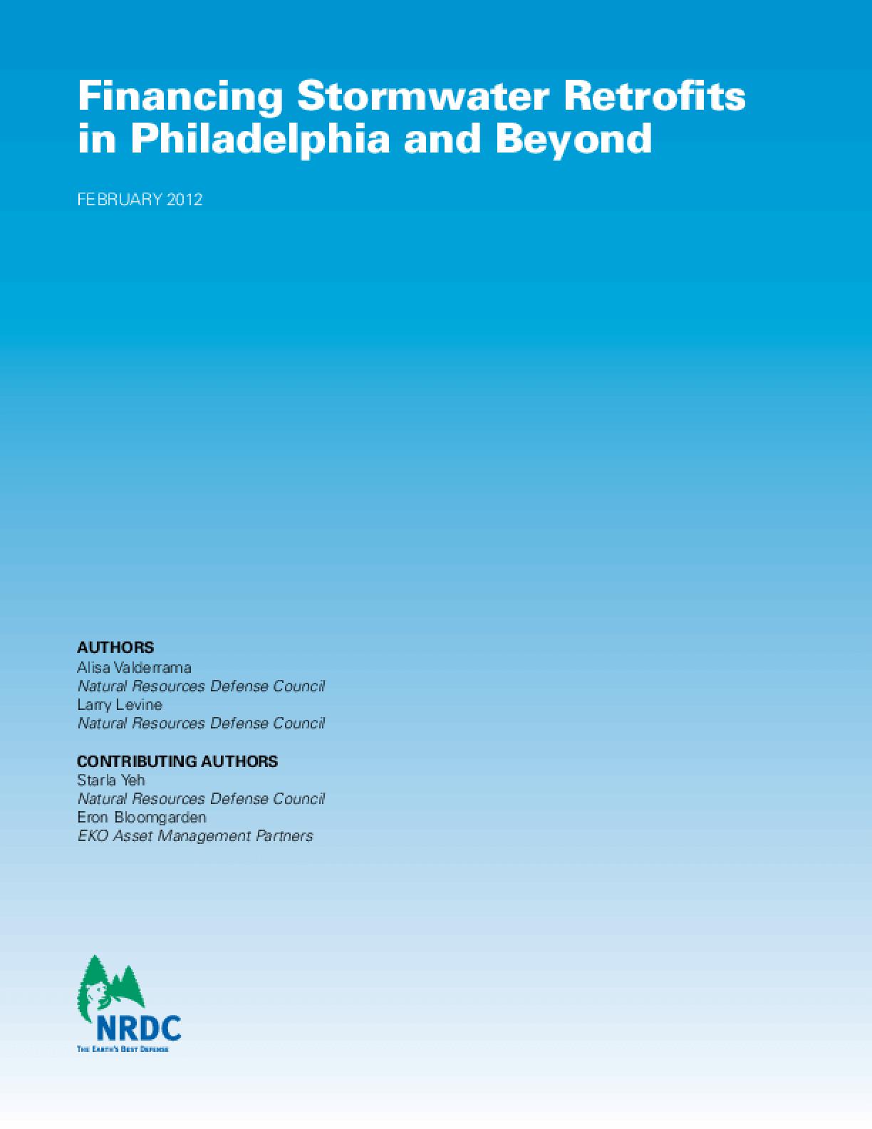 Financing Stormwater Retrofits in Philadelphia and Beyond