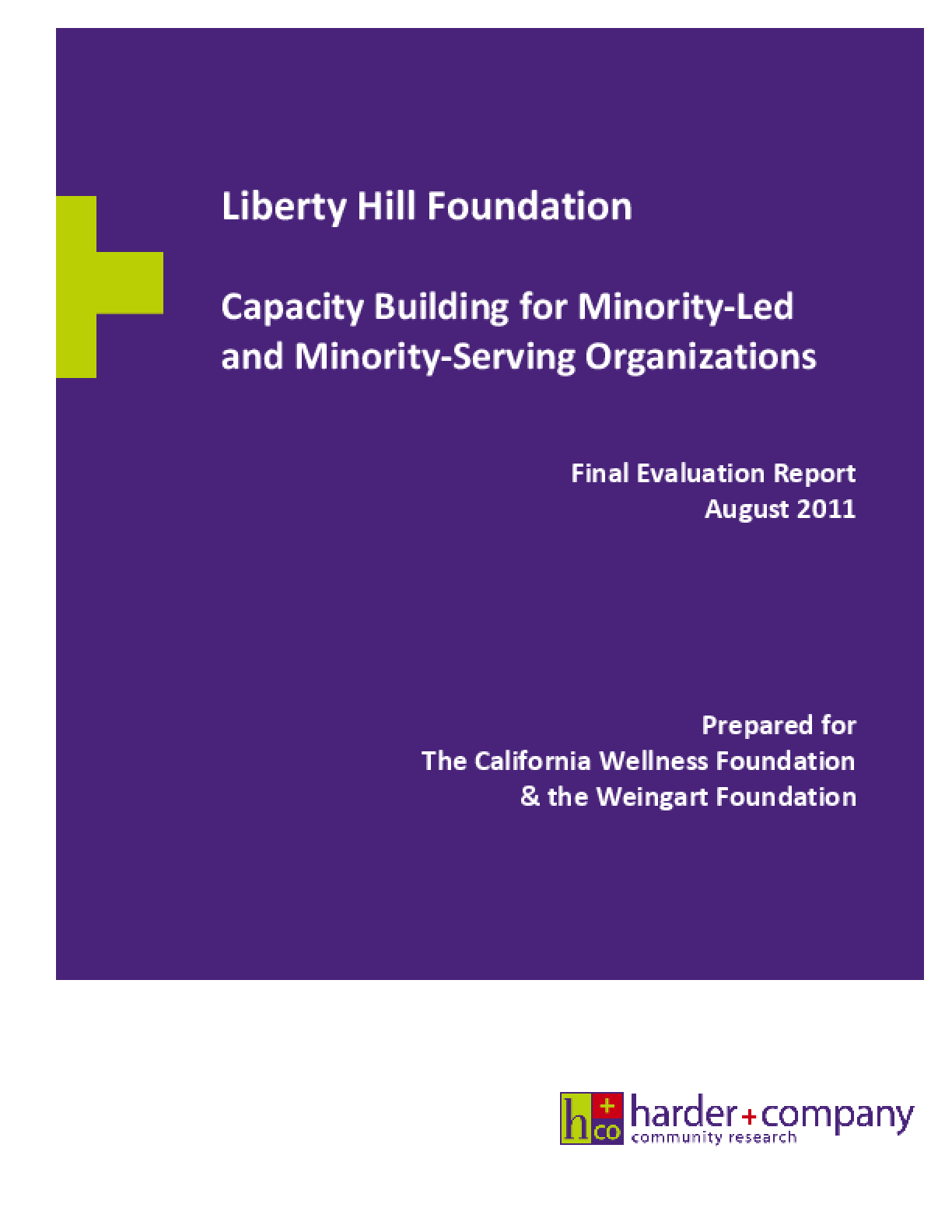 Liberty Hill Foundation: Capacity Building for Minority-Led and Minority-Serving Organizations