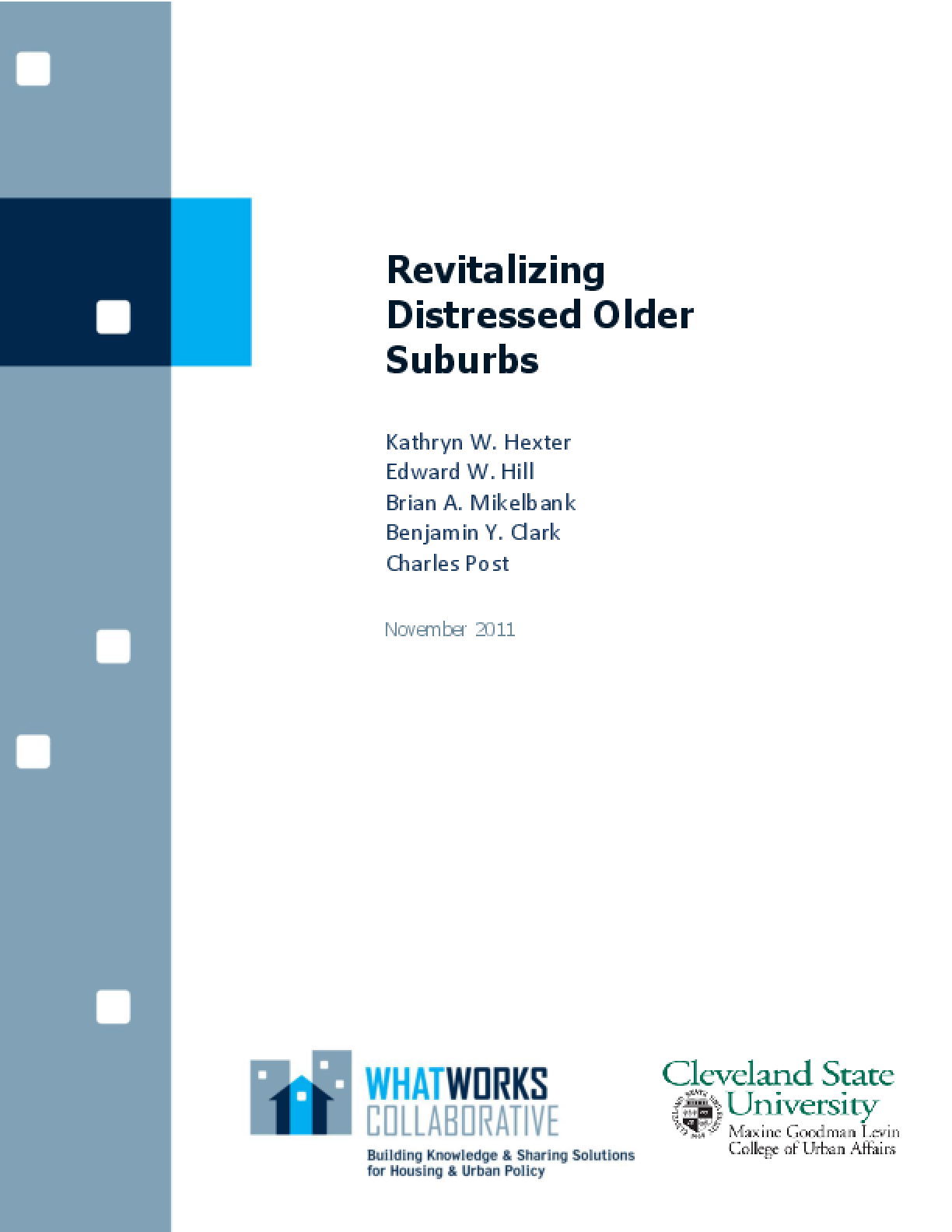 Revitalizing Distressed Older Suburbs