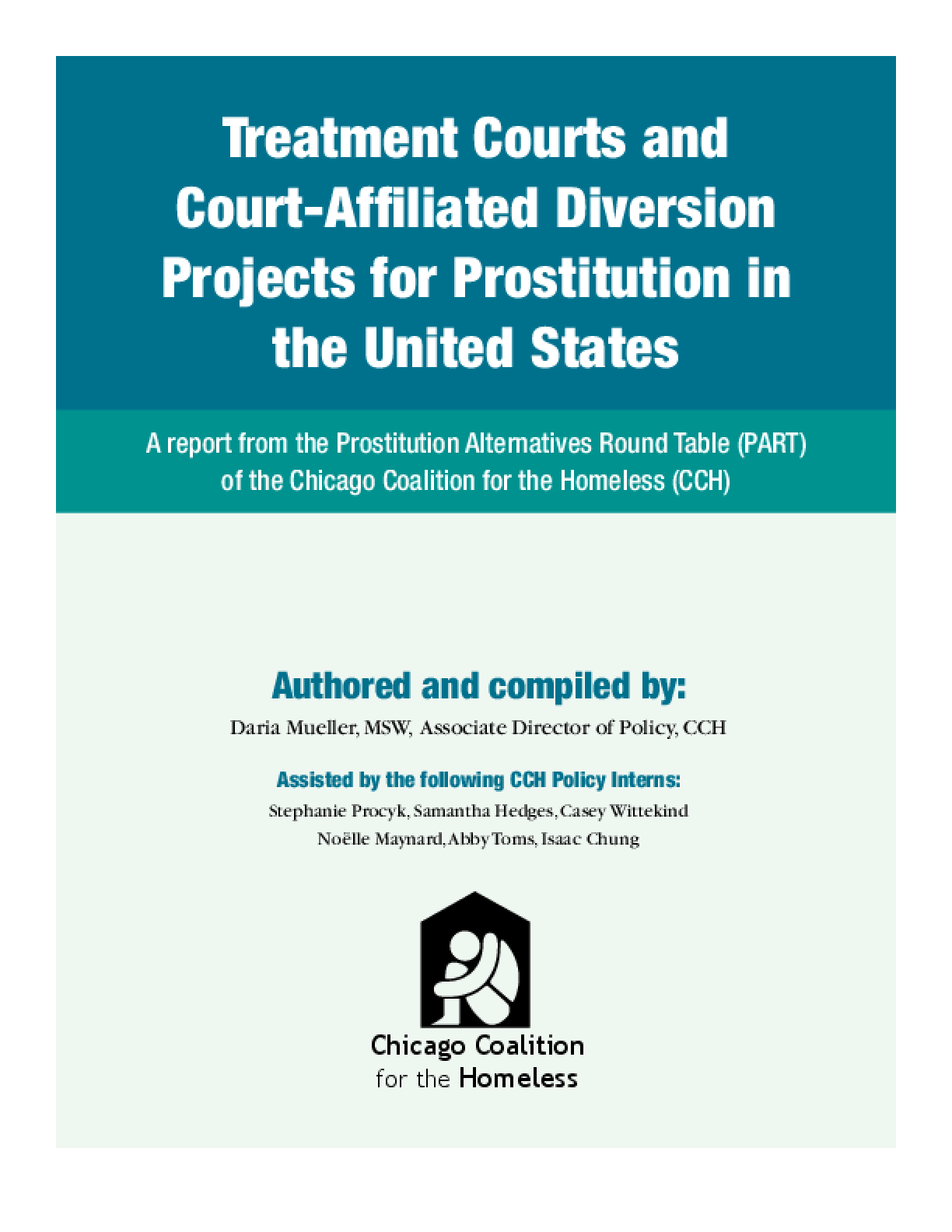 Treatment Courts and Court-Affiliated Diversion Projects for Prostitution in the United States