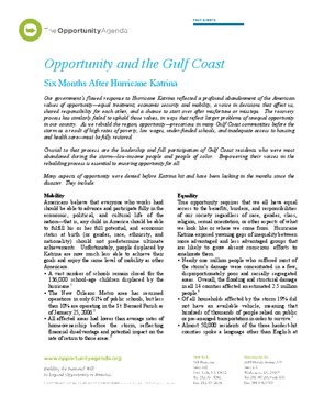 The Gulf Coast and Opportunity