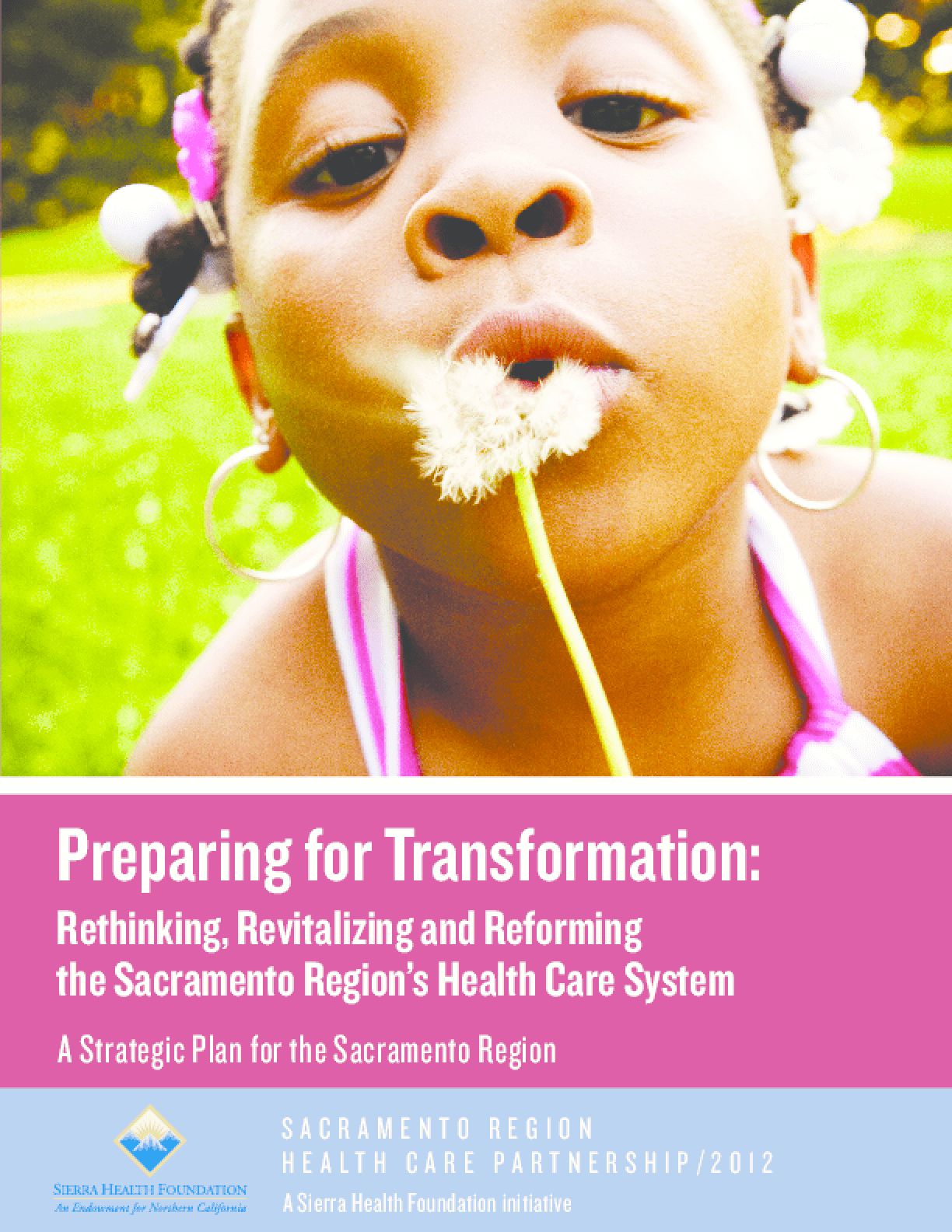 Preparing for Transformation: Rethinking, Revitalizing and Reforming the Sacramento Region's Health Care System - A Strategic Plan for the Sacramento Region