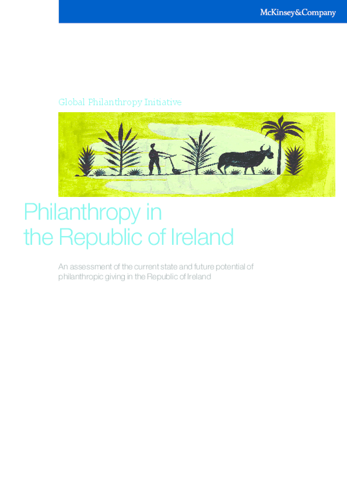Philanthropy in the Republic of Ireland: an Assessment of the Current State and the Future Potential of Philanthropic Giving in the Republic of Ireland