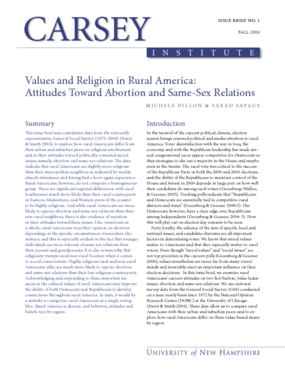 Values and Religion in Rural America: Attitudes Toward Abortion and Same-Sex Relations