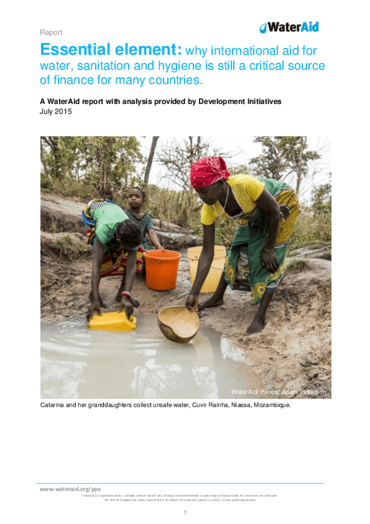 Essential Element: Why International Aid for Water, Sanitation and Hygiene Is Still a Critical Source of Finance for Many Countries