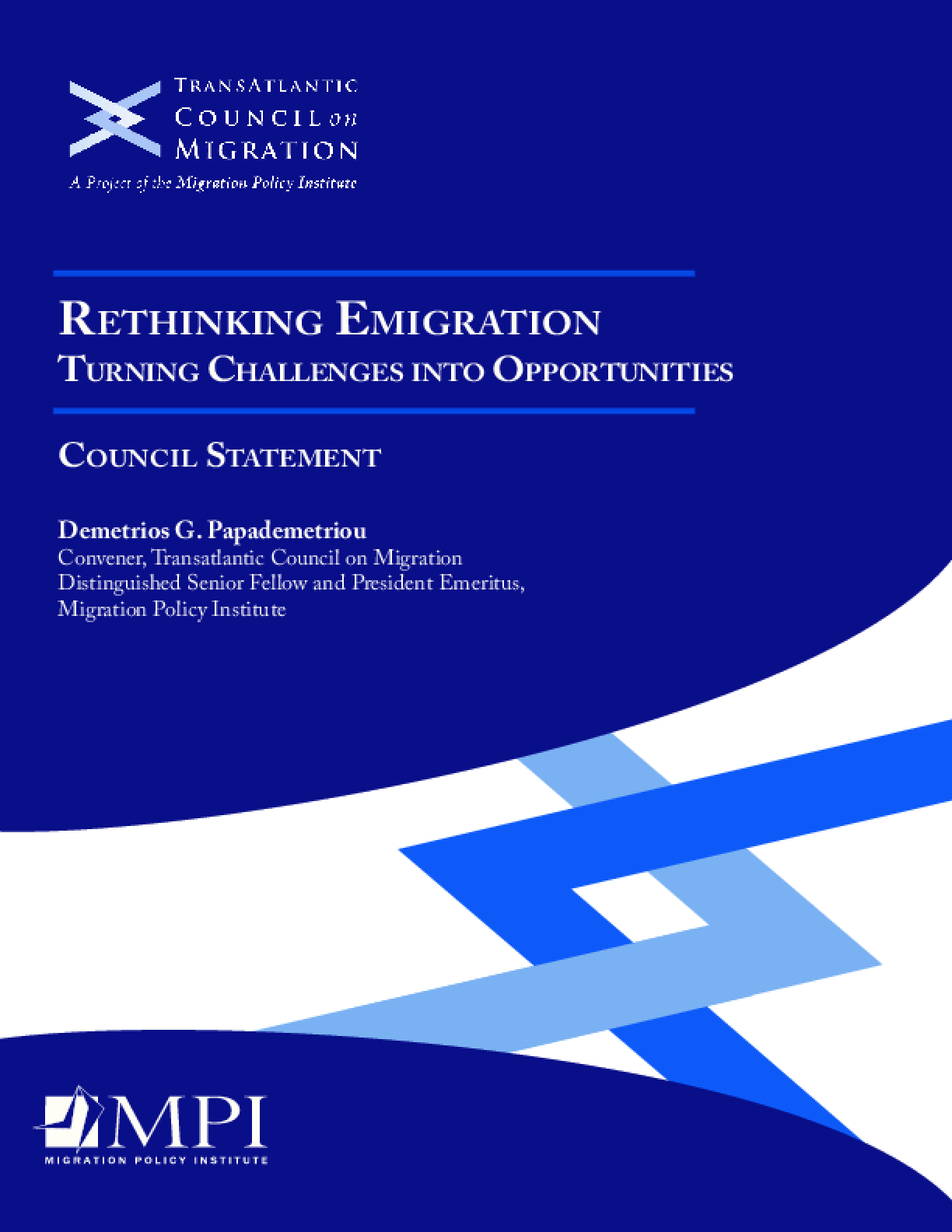 Rethinking Emigration Turning Challenges Into Opportunities: Council Statement