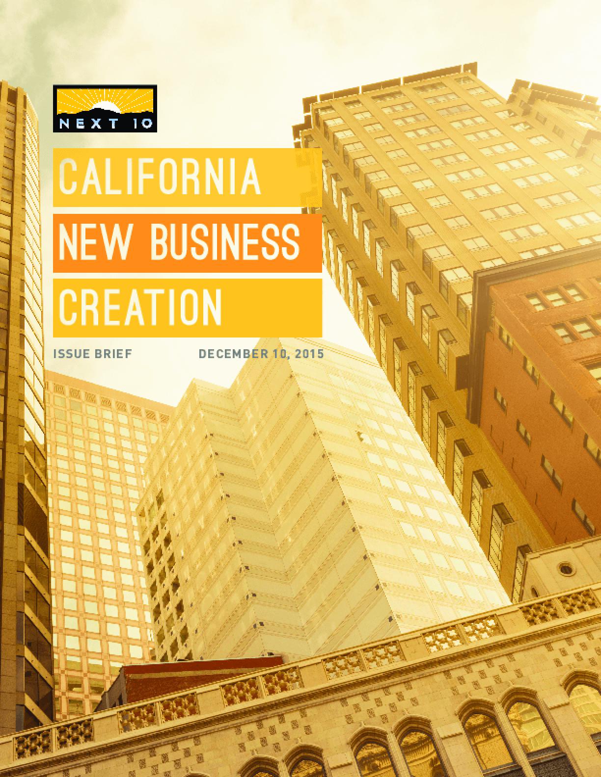 California New Business Creation