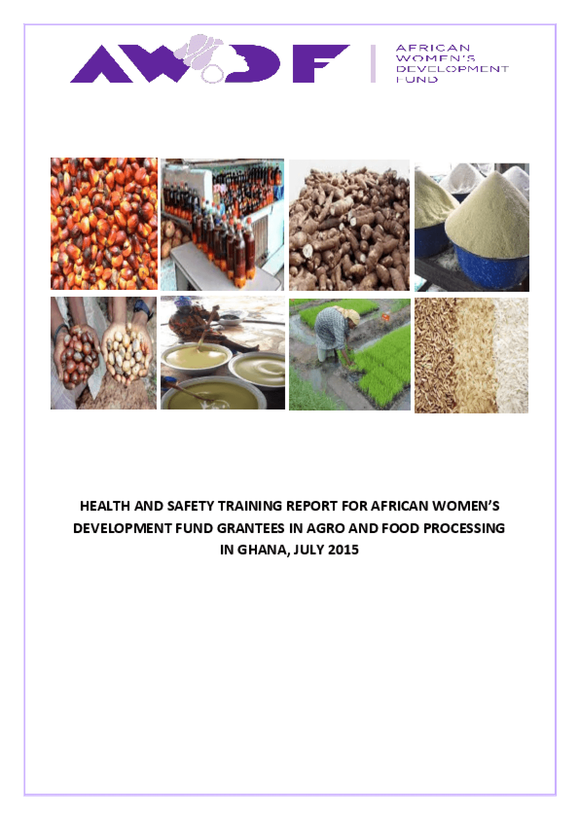 Health and Safety Technical Support Project Report