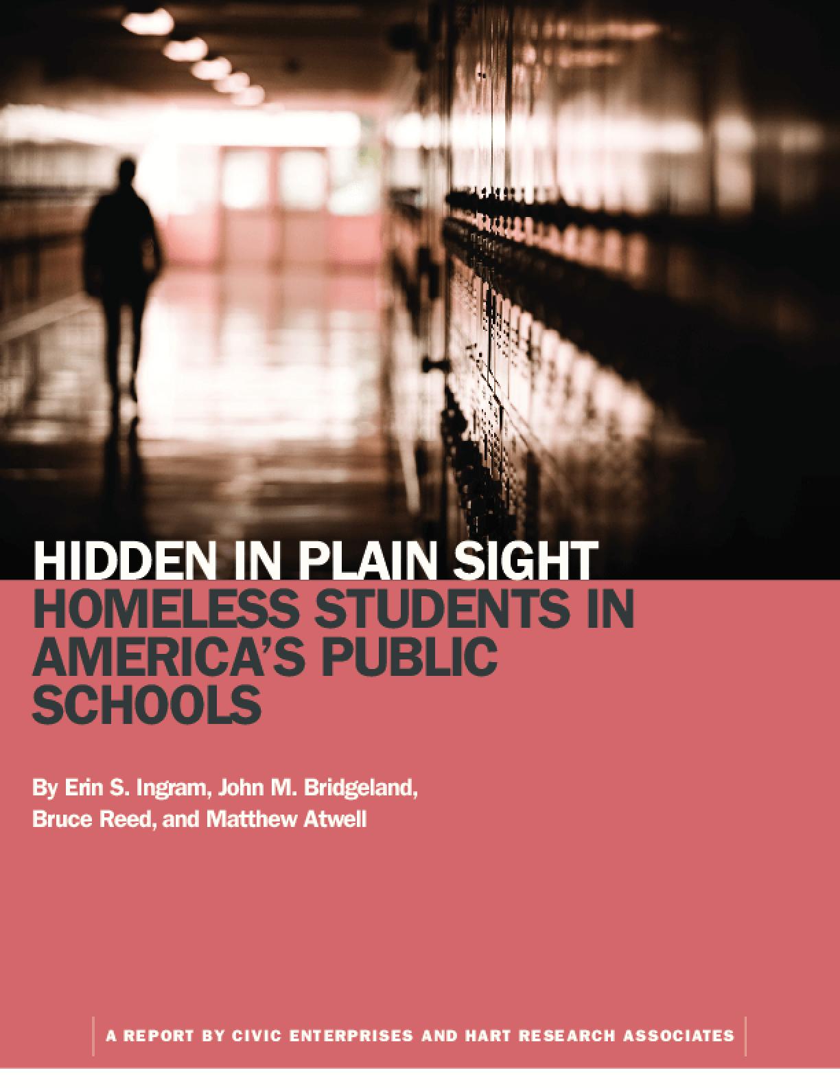 Hidden in Plain Sight: Homeless Students In America's Public Schools