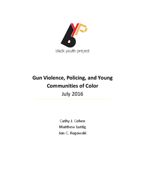 Gun Violence, Policing, and Young Communities of Color