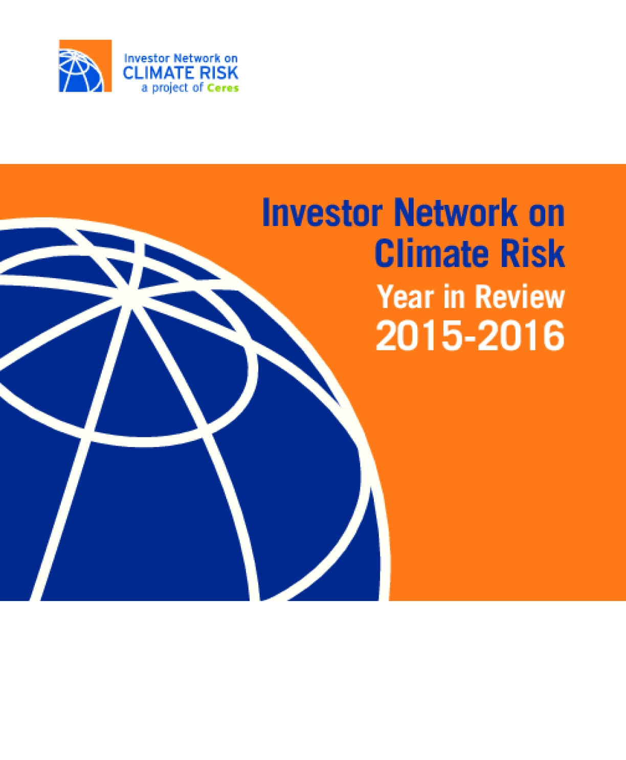 Investor Network on Climate Risk Year in Review 2015-2016