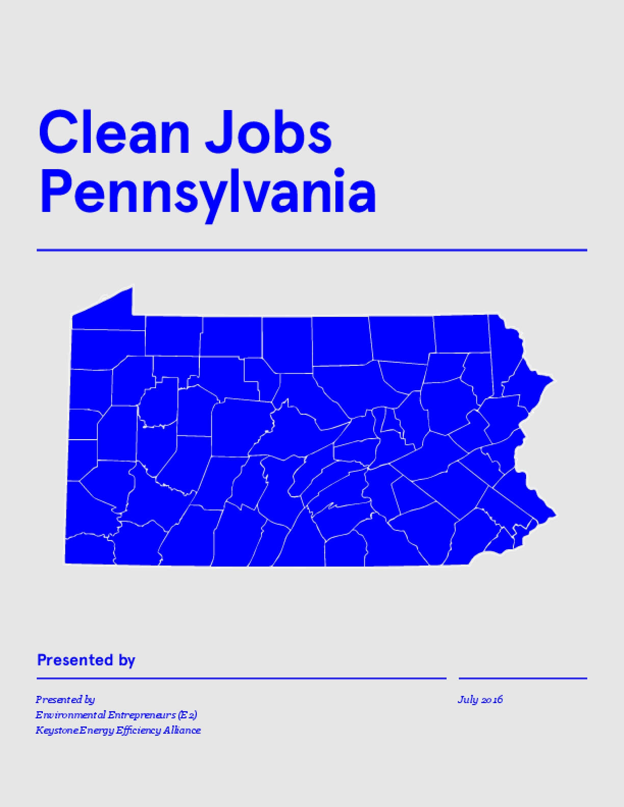 Clean Jobs Pennsylvania