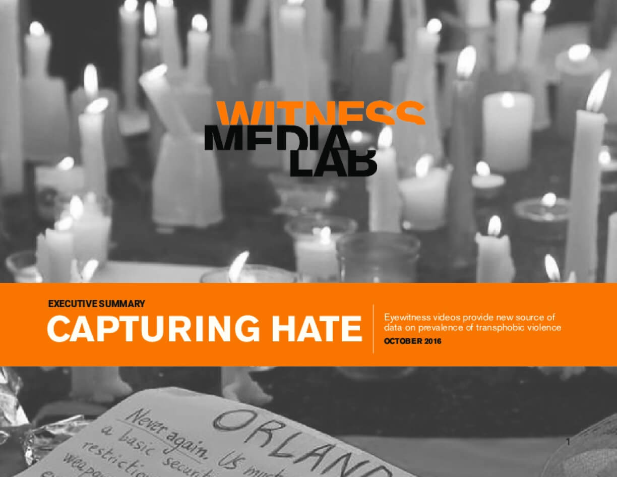 Capturing Hate: Eyewitness Videos Provide New Source of Data on Prevalence of Transphobic Violence