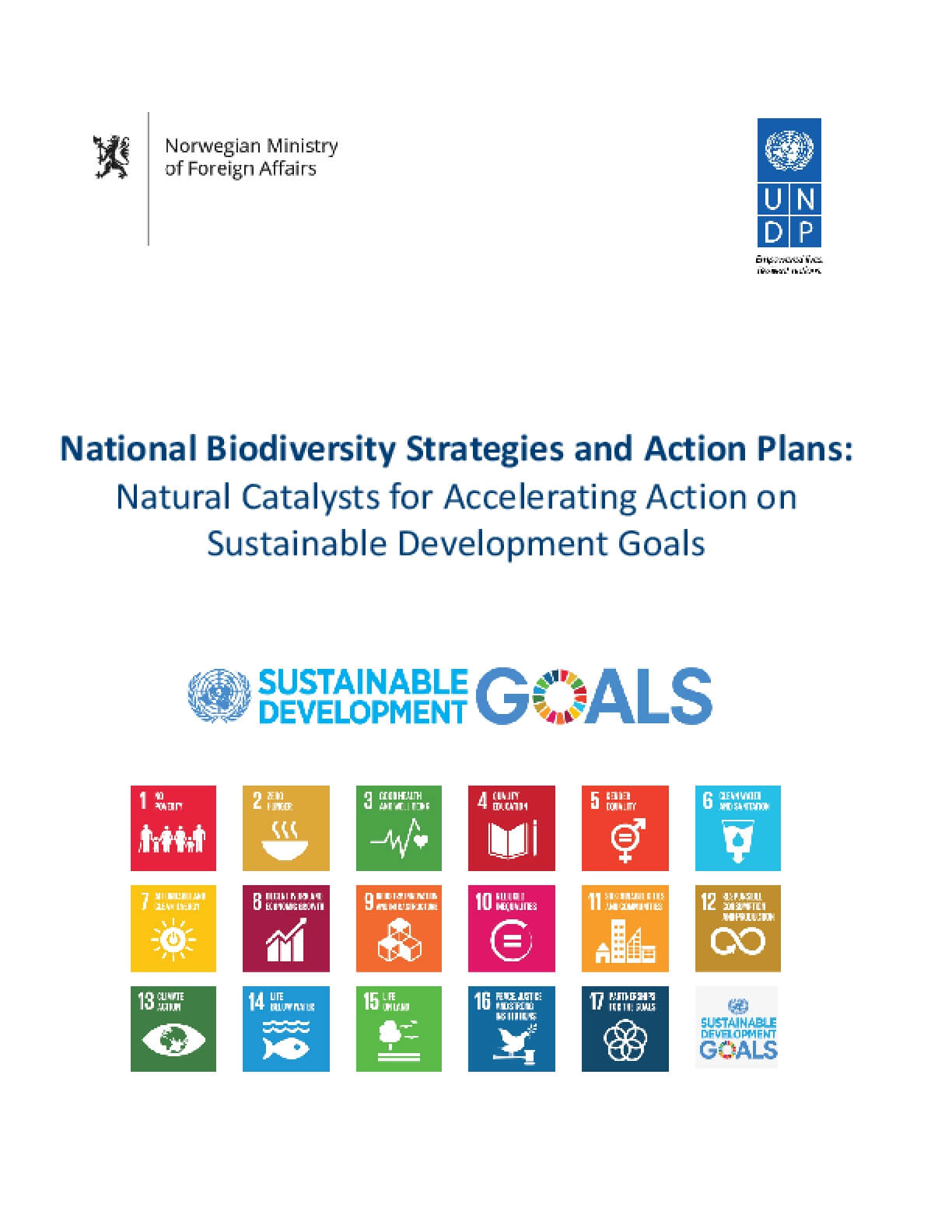 National Biodiversity Strategies and Action Plans: Natural Catalysts for Accelerating Action on Sustainable Development Goals