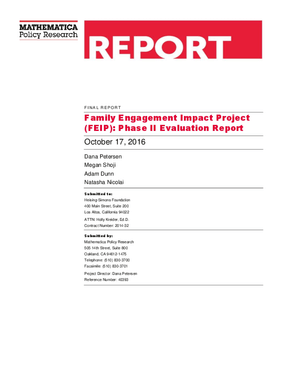 Family Engagement Impact Project: Phase II Evaluation Report