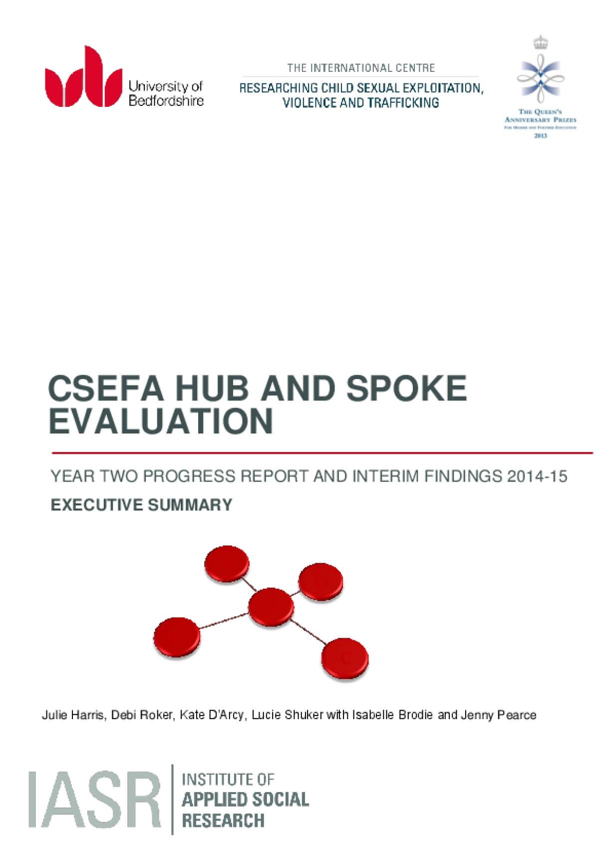 CSEFA Hub and Spoke Evaluation Executive Summary