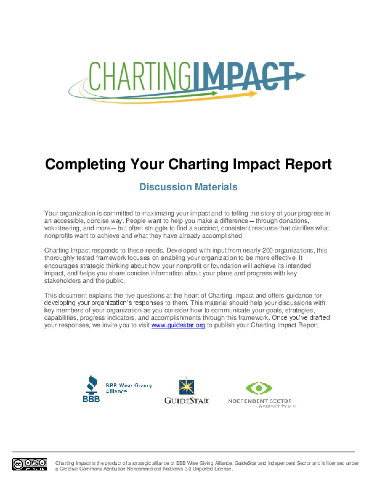Completing Your Charting Impact