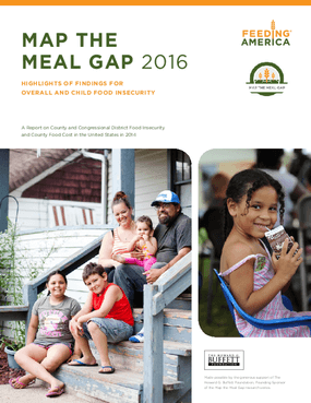 Map the Meal Gap 2016: Highlights of Findings for Overall and Child Food Insecurity