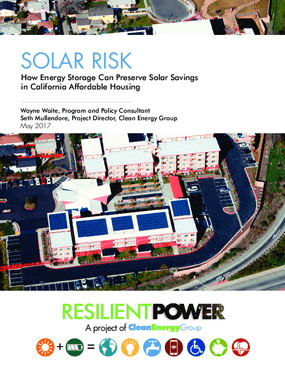 Solar Risk: How Energy Storage Can Preserve Solar Savings in California Affordable Housing