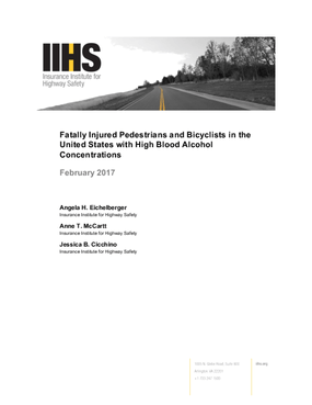 Fatally Injured Pedestrians and Bicyclists in the United States with High Blood Alcohol Concentrations