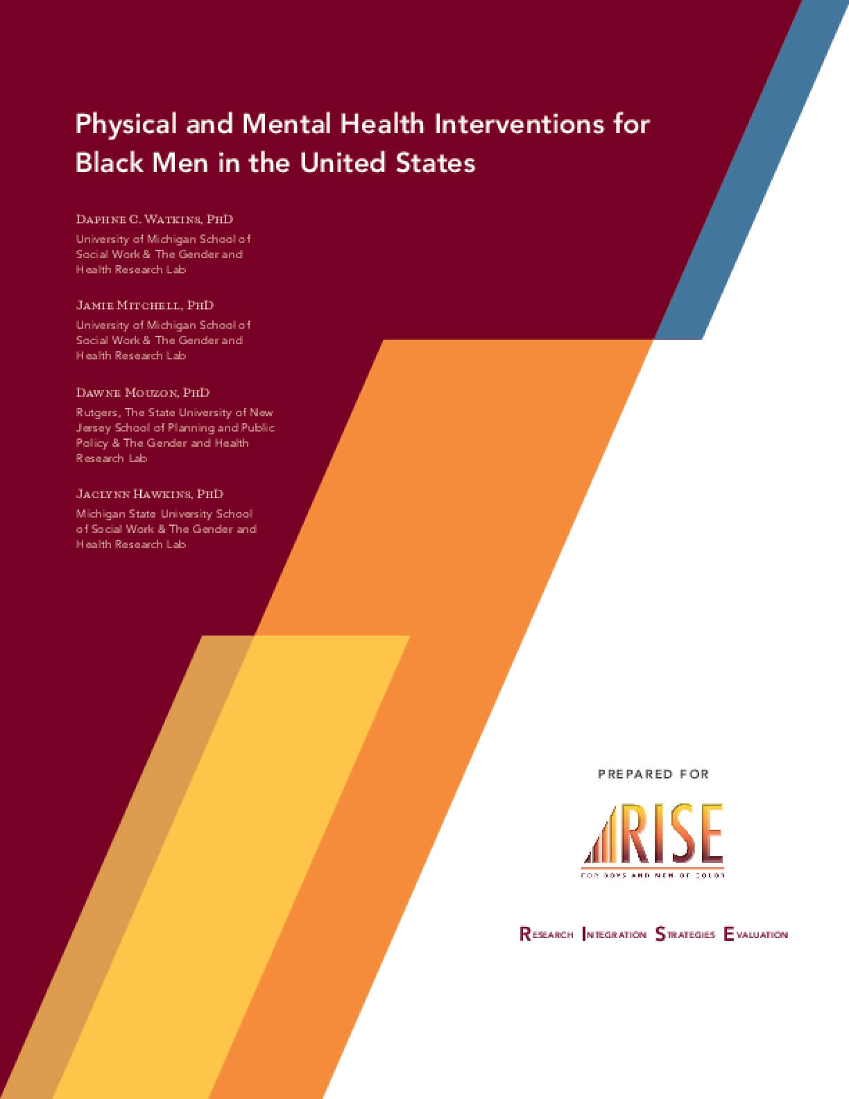 Physical and Mental Health Interventions for Black Men in the United States