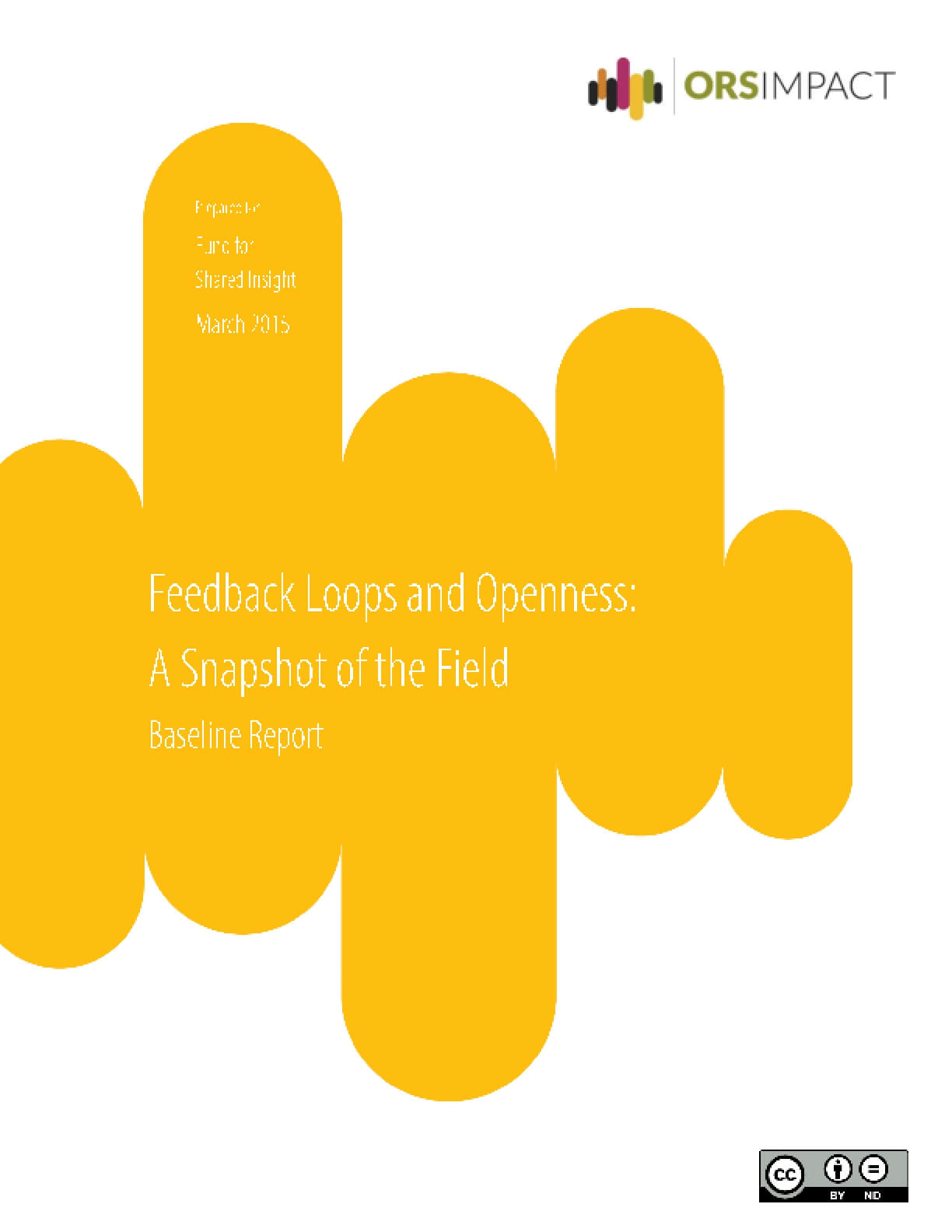 Feedback Loops and Openness: A Snapshot of the Field Baseline Report