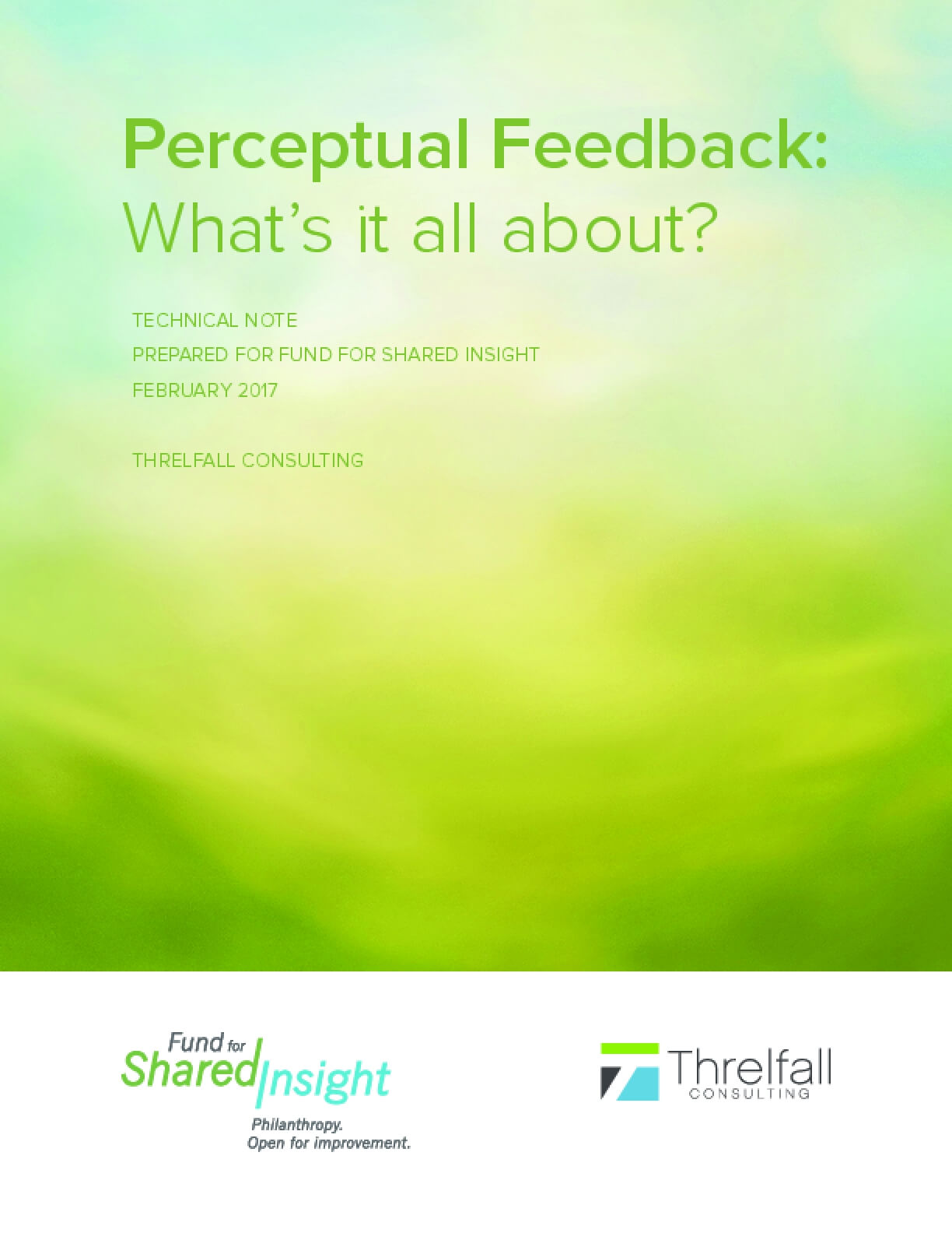 Perceptual Feedback: What's it all about?