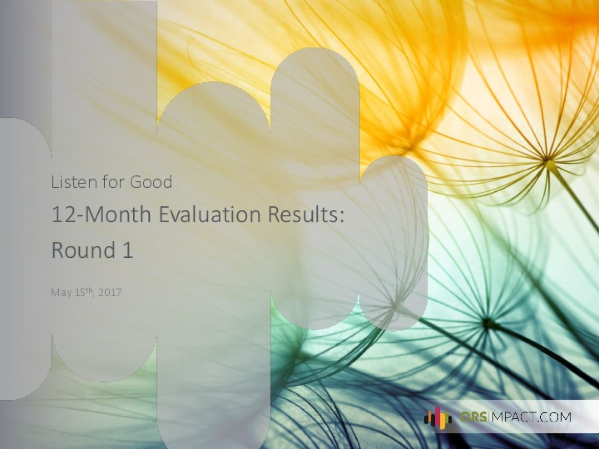 Listen for Good 12 Month Evaluation