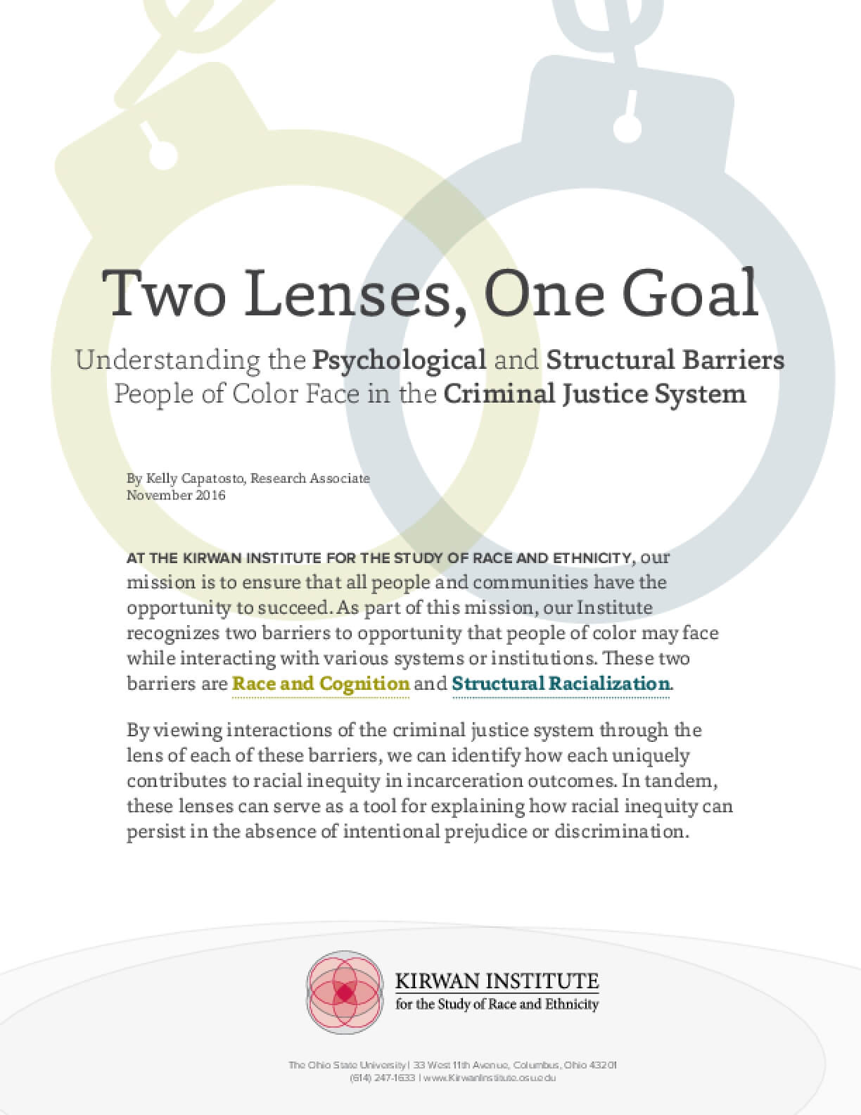 Understanding the Psychological and Structural Barriers People of Color Face in the Criminal Justice System