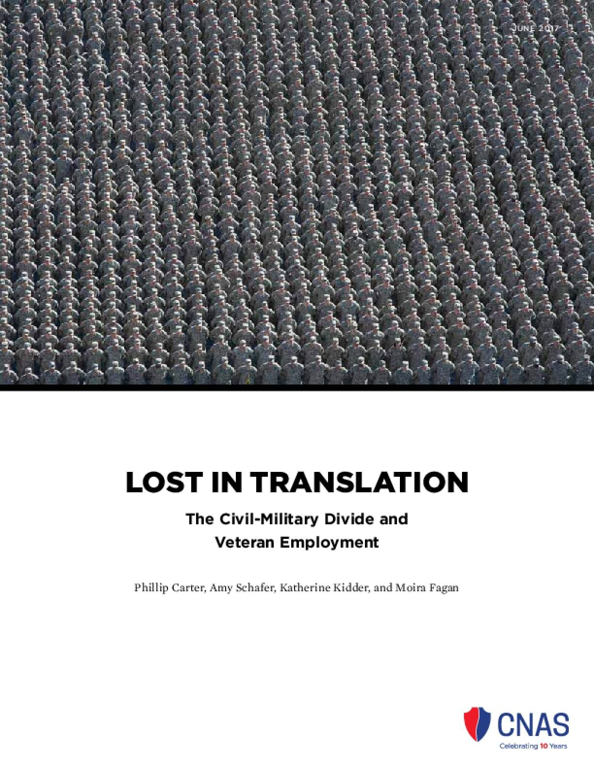 Lost in Translation: The Civil-Military Divide and Veteran Employment