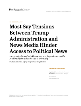 Most Say Tensions Between Trump Administration and News Media Hinder Access to Political News