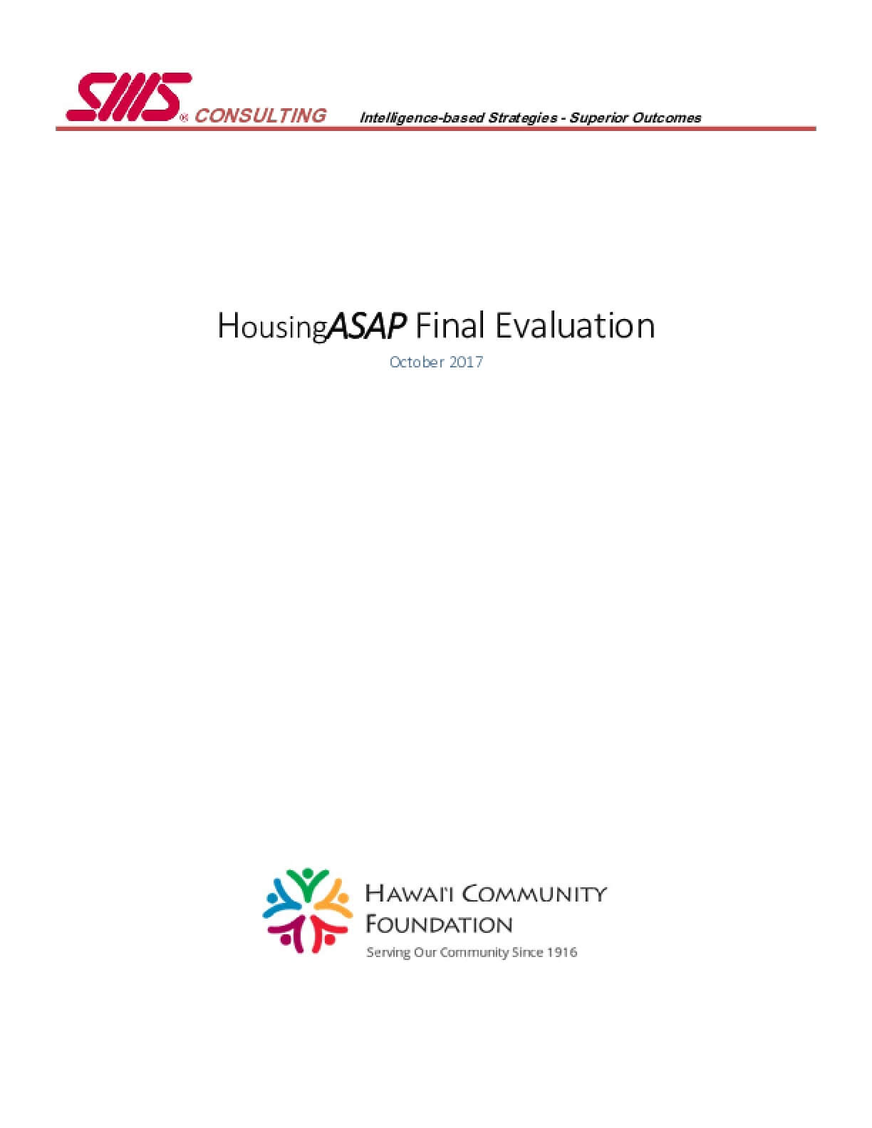 HousingASAP Final Evaluation