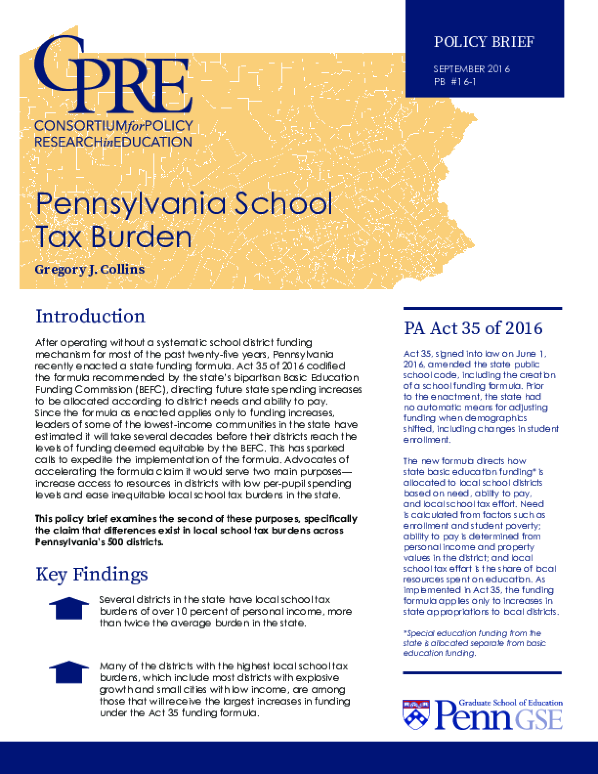 Pennsylvania School Tax Burden