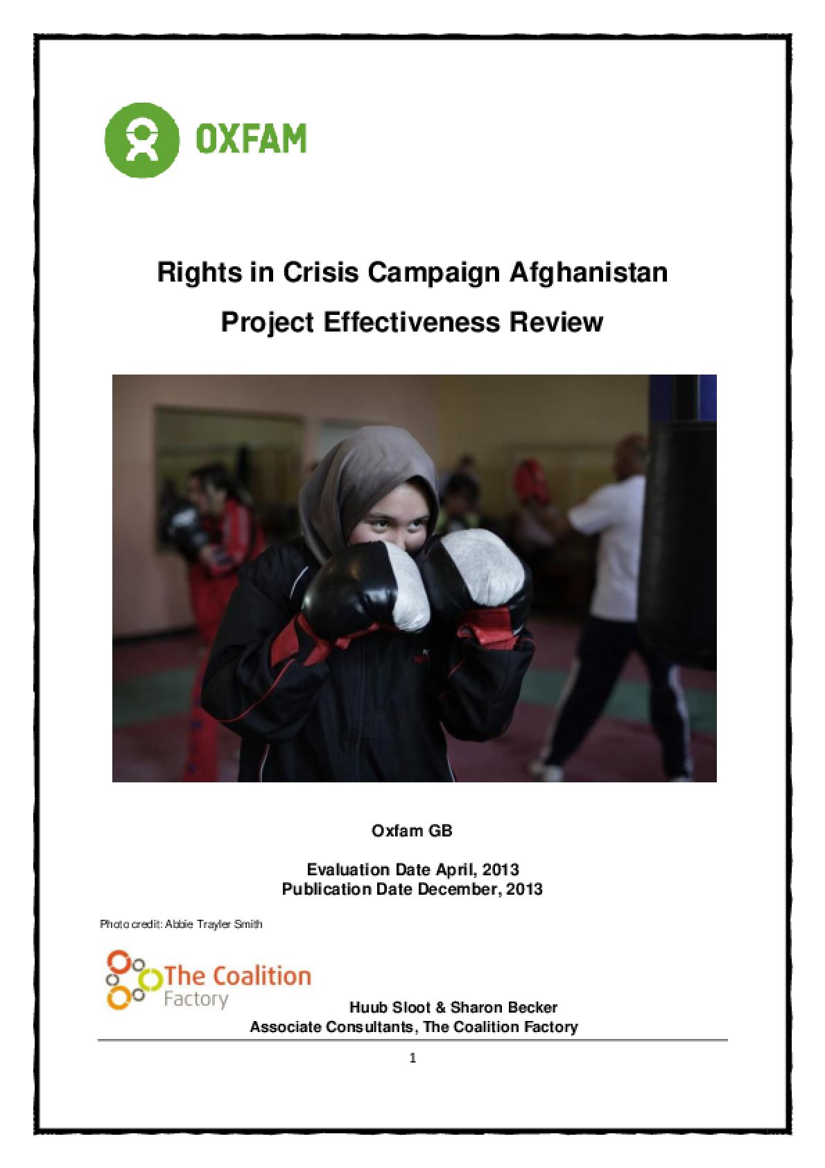 Effectiveness Review: Rights in Crisis Campaign Afghanistan