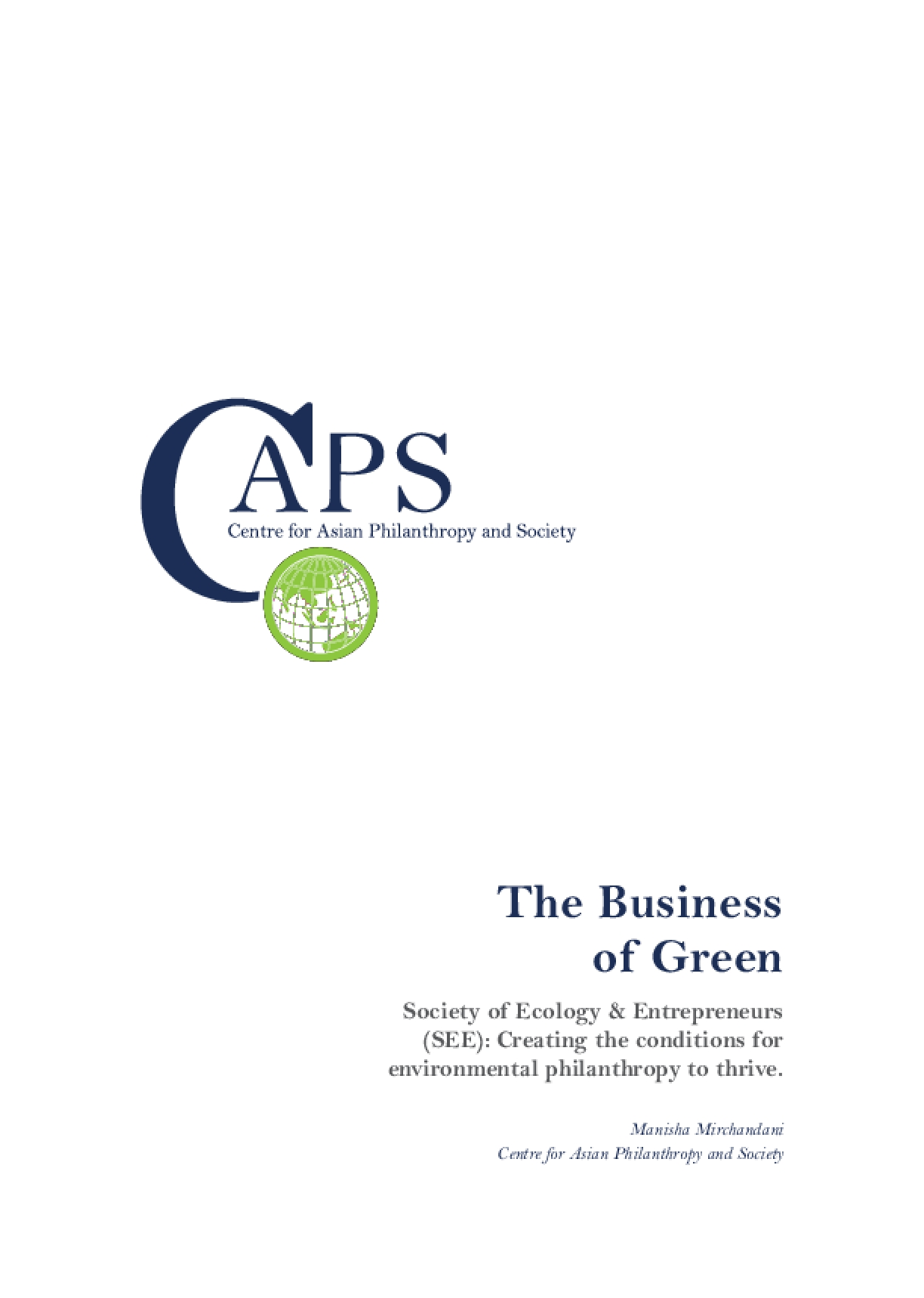 The Business of Green