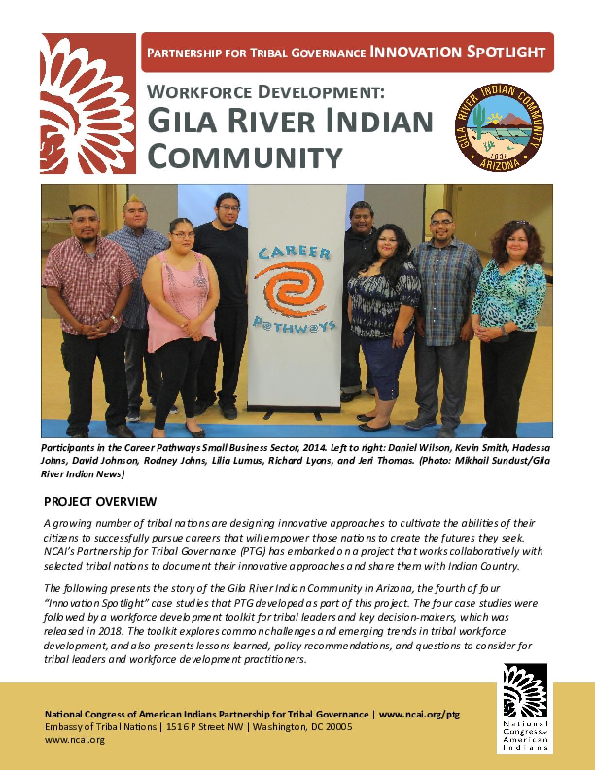 Workforce Development: Gila River Indian Community
