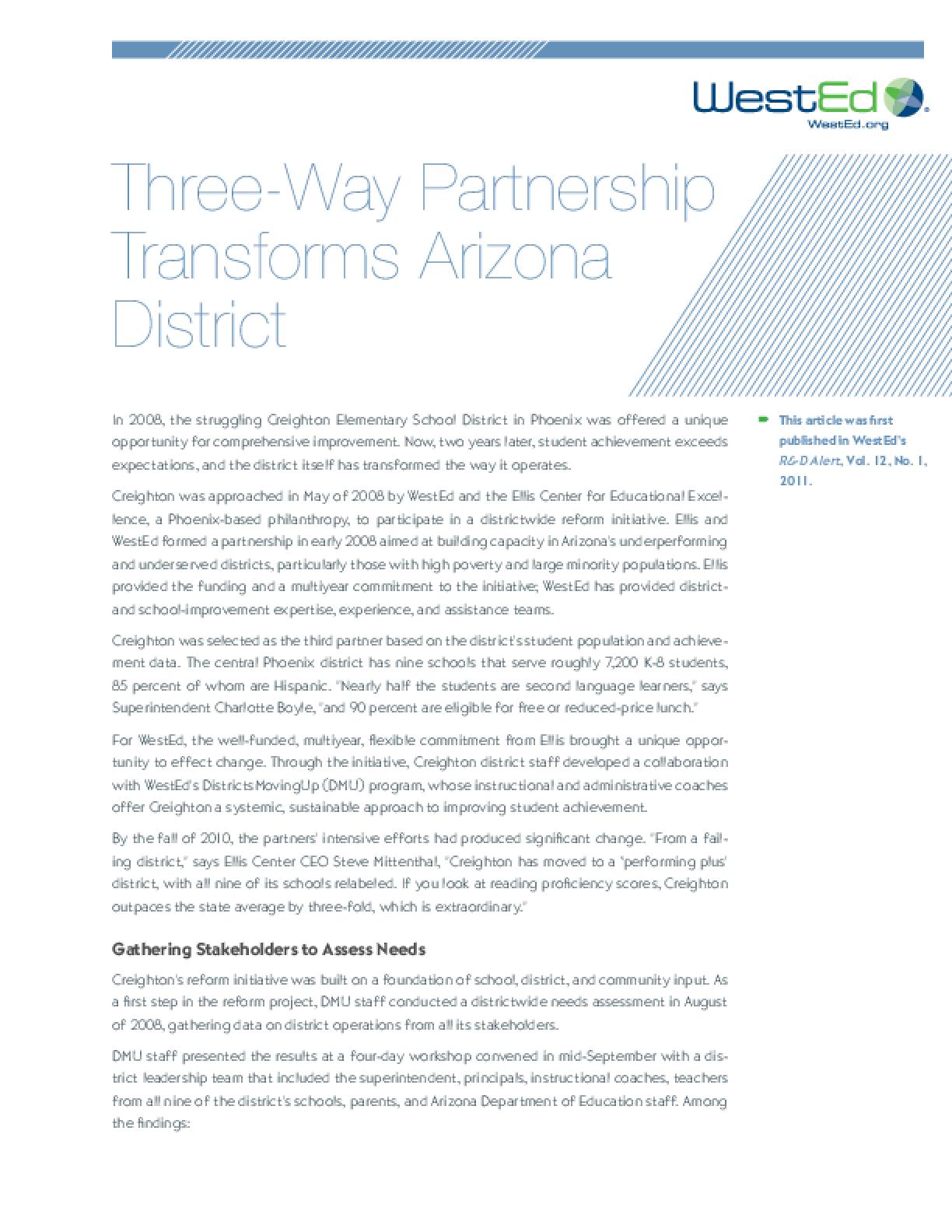Three-Way Partnership Transforms Arizona District