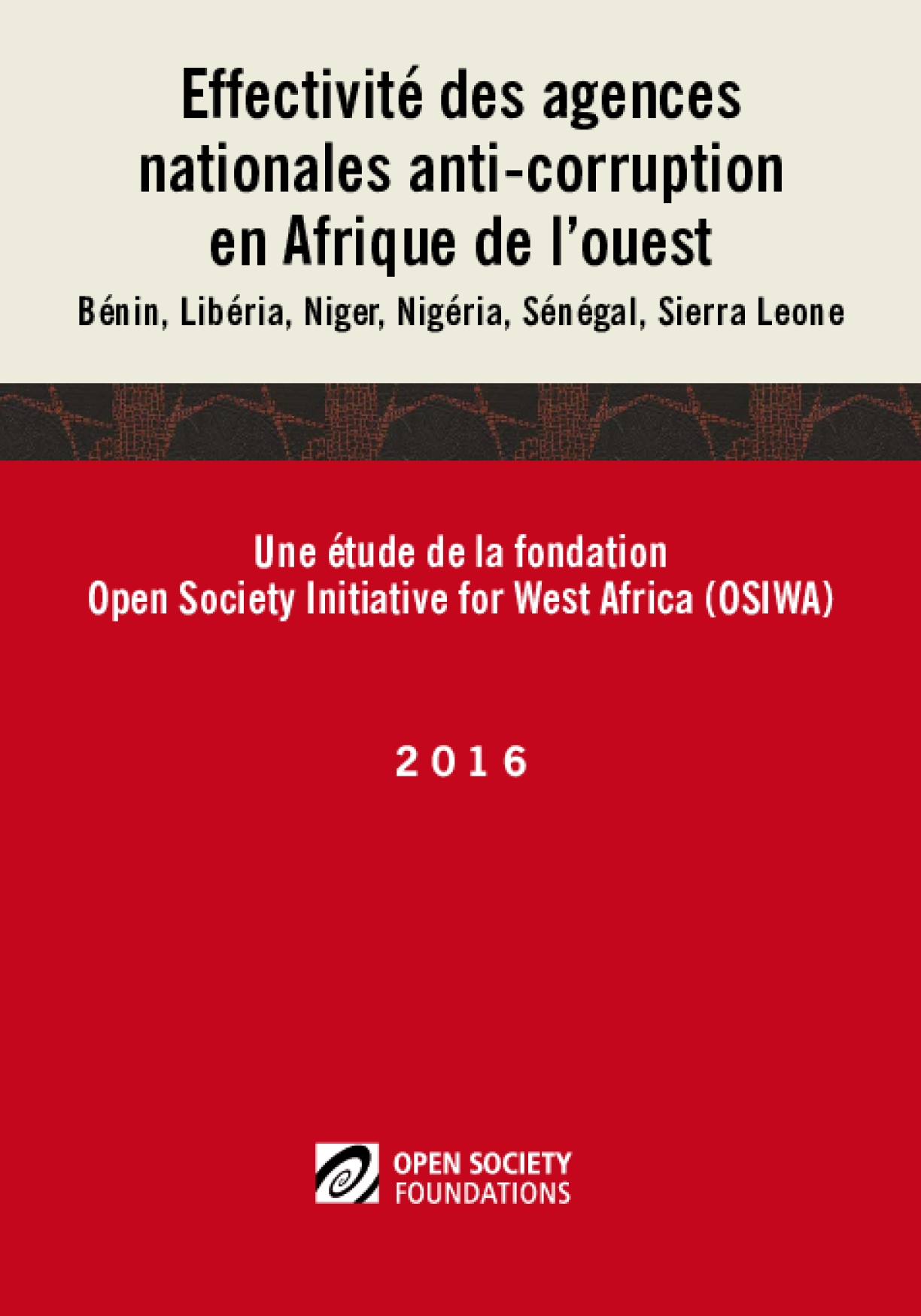 Effectiveness of Anticorruption Agencies in West Africa: French