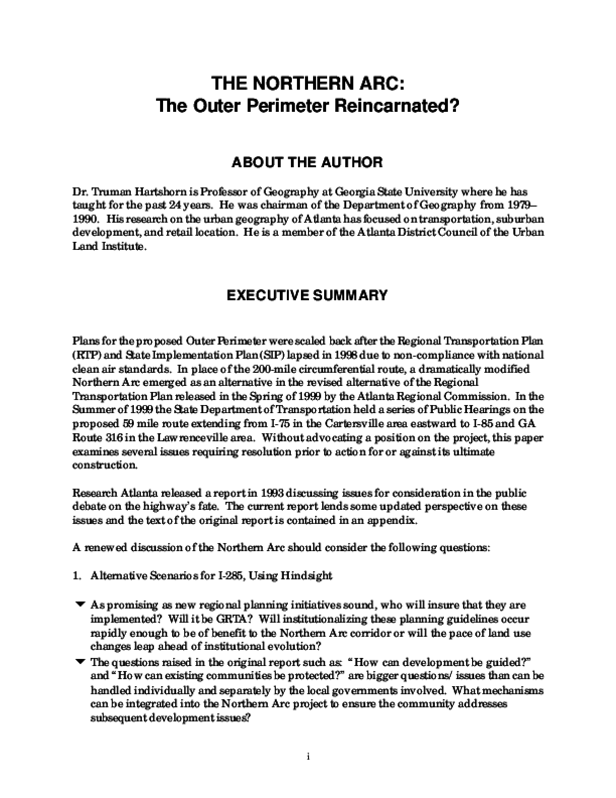 The Northern Arc: The Outer Perimeter Reincarnated?