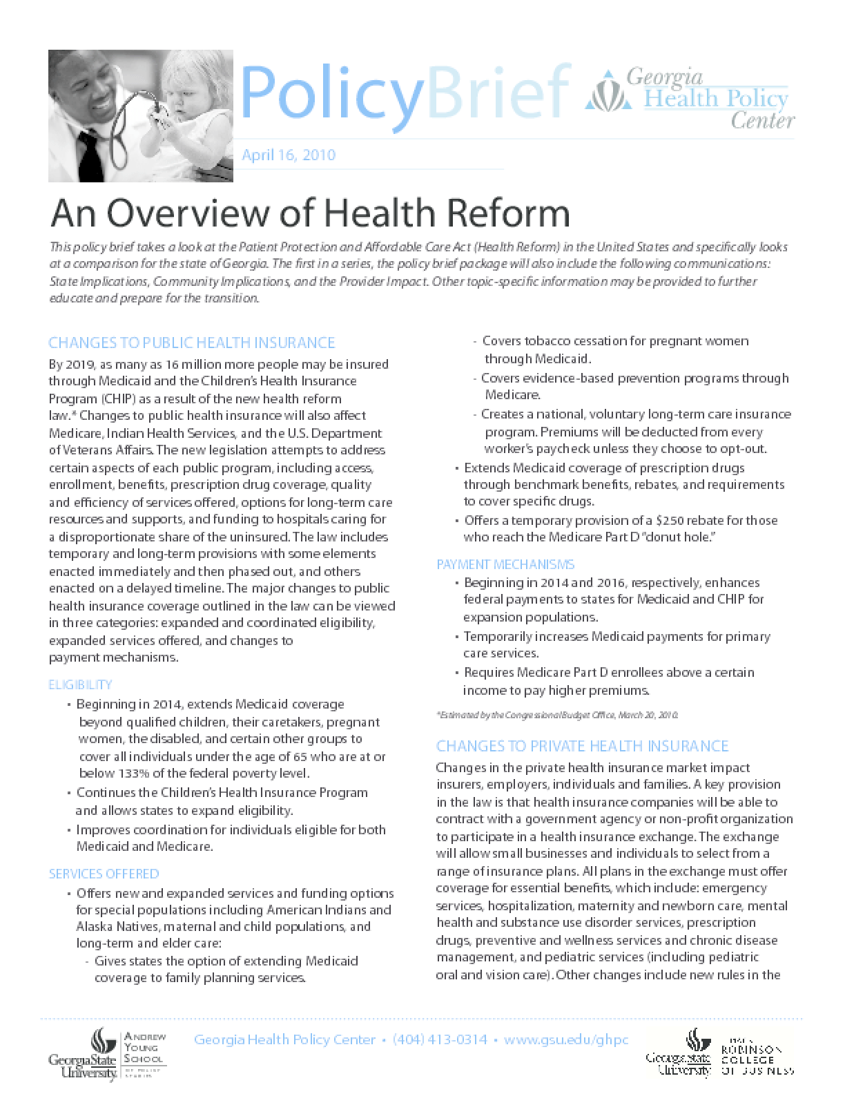 An Overview of Health Reform