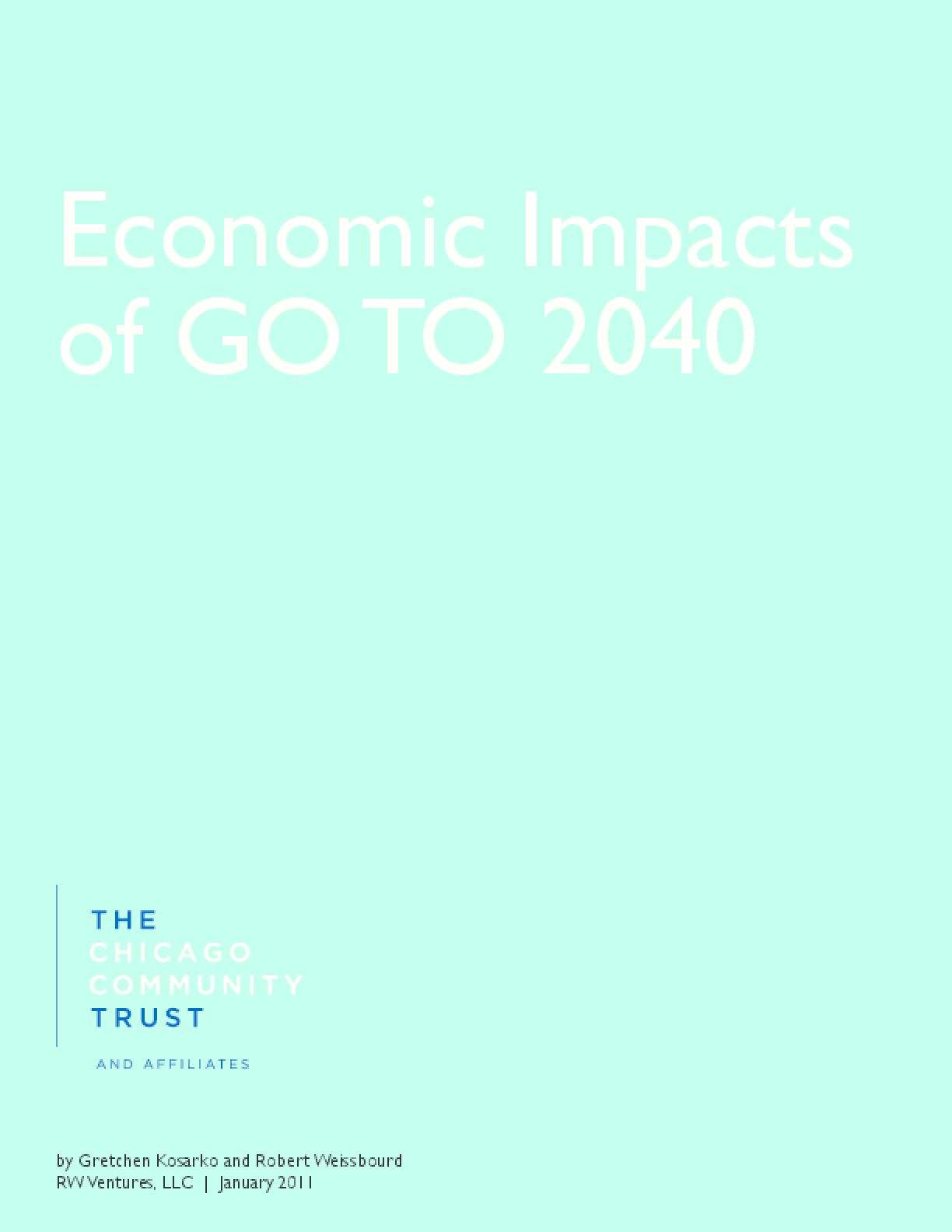 Economic Impacts of GO TO 2040