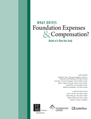 What Drives Foundation Spending?: Results of a Three-Year Study