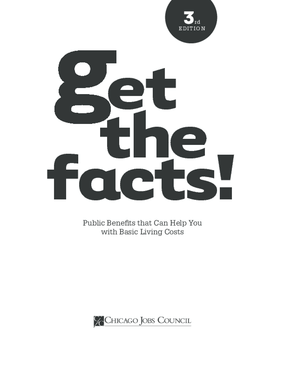 Get the Facts! Public Benefits that Can Help You with Basic Living Costs