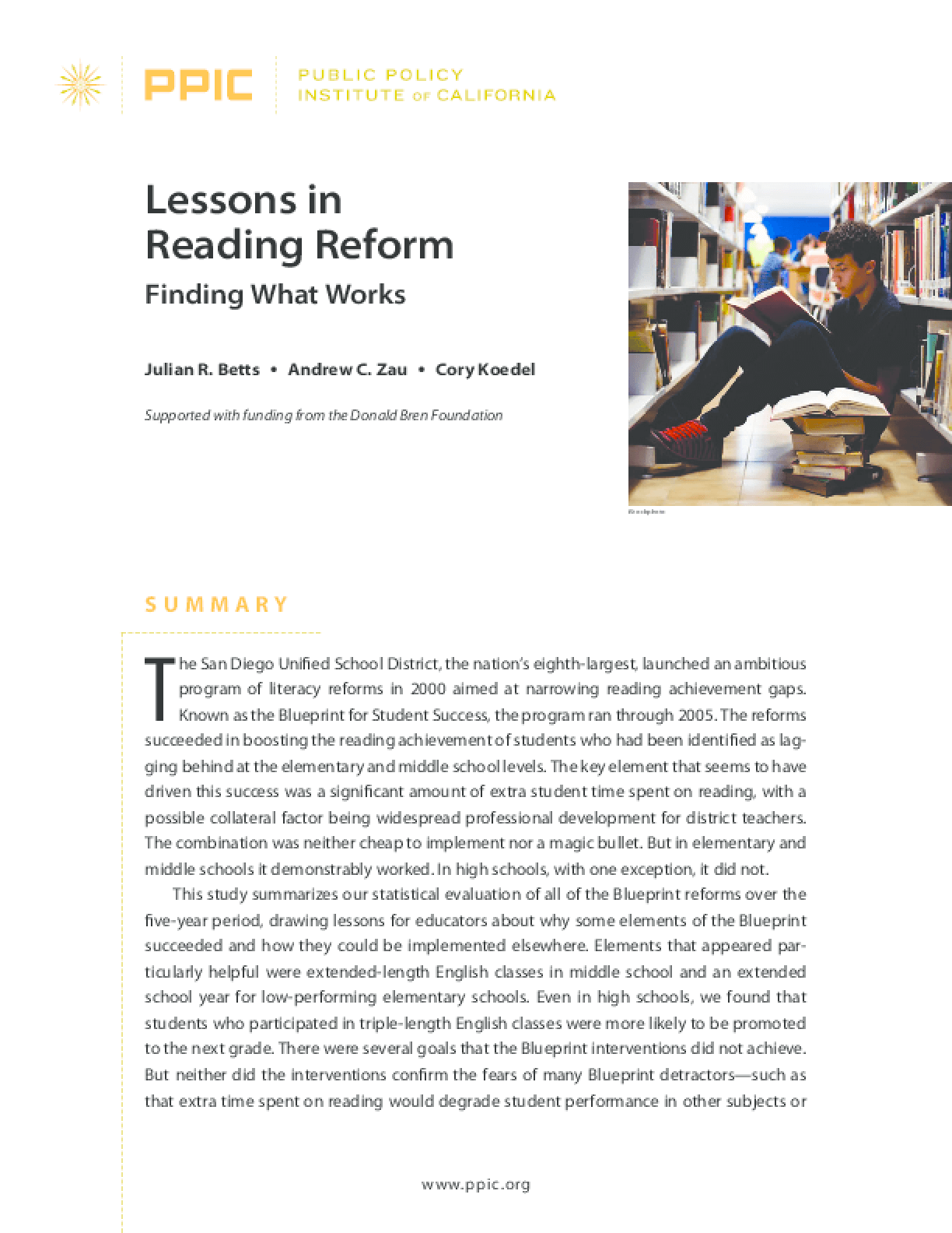 Lessons in Reading Reform: Finding What Works