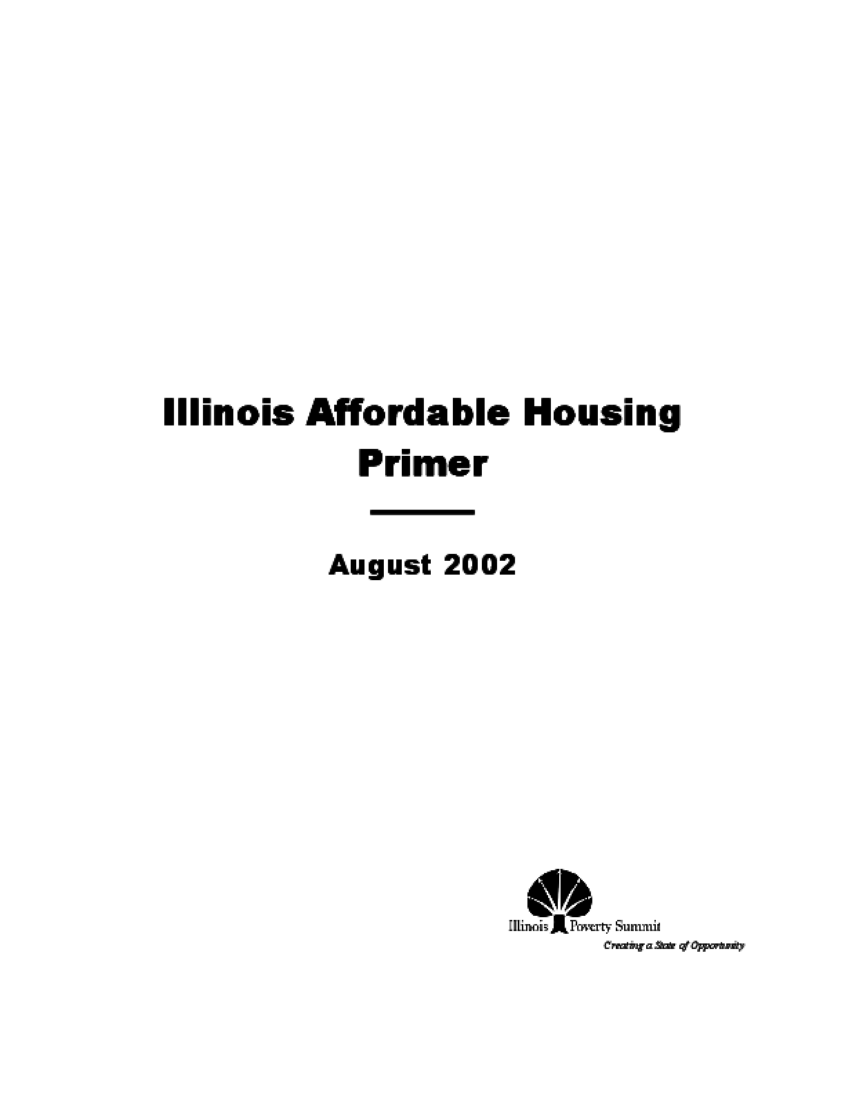 Illinois Affordable Housing Primer