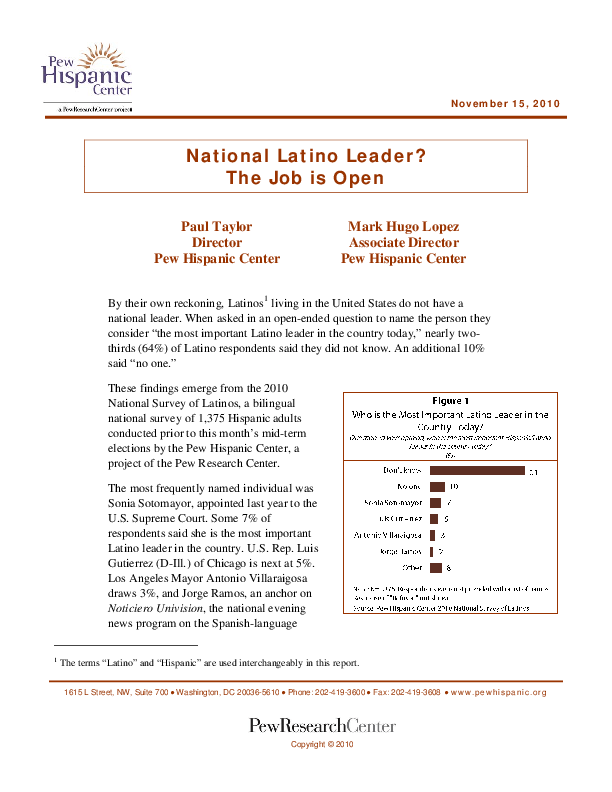 National Latino Leader? The Job is Open